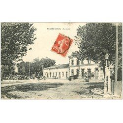 carte postale ancienne 42 MONTBRISSON. La Gare 1916