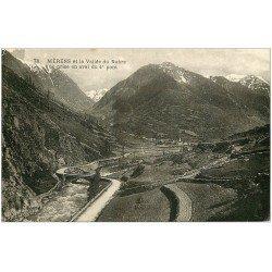 carte postale ancienne 09 MERENS. Vallée du Nabre et Pont 1935