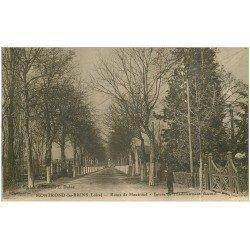 carte postale ancienne 42 MONTROND-LES-BAINS. Entrée Etablissement Thermal 1932