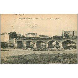 carte postale ancienne 42 MONTROND-LES-BAINS. Pont de la Loire 1925