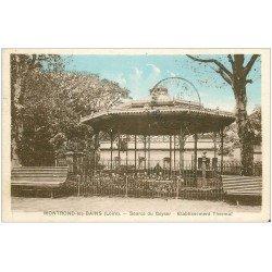 carte postale ancienne 42 MONTROND-LES-BAINS. Source du Geyser 1934
