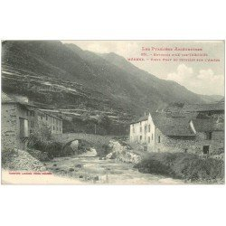 carte postale ancienne 09 MERENS. Vieux Pont du Couillet sur l'Ariège