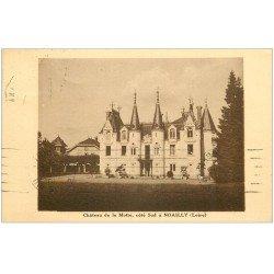 carte postale ancienne 42 NOAILLY. Château de la Motte 1935. Ecriture bizare...