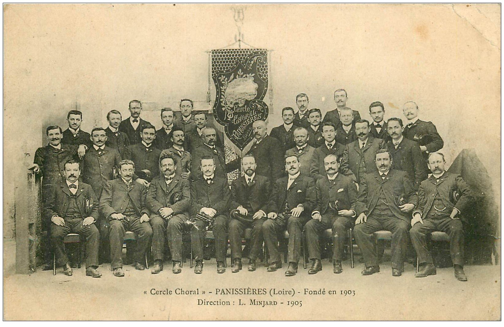 carte postale ancienne 42 PANISSIERES. Cercle Choral