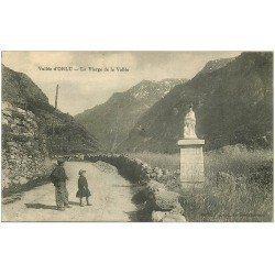 carte postale ancienne 09 ORLU. La Vierge de la Vallée 1923