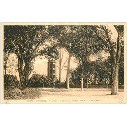 carte postale ancienne 09 PAMIERS. Clocher Cathédrale et plateau du Castella