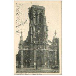 carte postale ancienne 42 SAINT-ETIENNE. Eglise Saint-Roch voiture ancienne