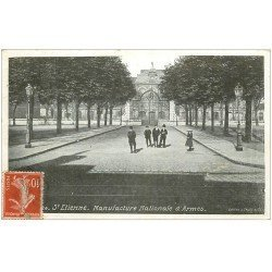 carte postale ancienne 42 SAINT-ETIENNE. Entrée Manufacture Nationale d'Armes 1912