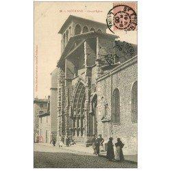 carte postale ancienne 42 SAINT-ETIENNE. Grande Eglise 1905