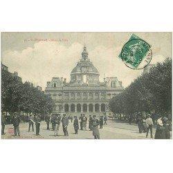 carte postale ancienne 42 SAINT-ETIENNE. Hôtel de Ville 1908