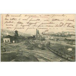 carte postale ancienne 42 SAINT-ETIENNE. Le Puits Châtelus. Ecriture croisée 1910
