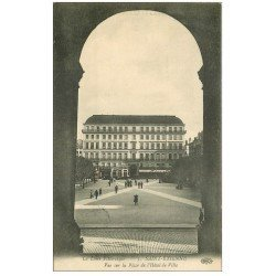 carte postale ancienne 42 SAINT-ETIENNE. Place Hôtel de Ville