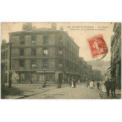 carte postale ancienne 42 SAINT-ETIENNE. Quartier de la Roche du Soleil 1911. Commerce Comptoir