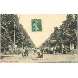 carte postale ancienne 42 SAINT-ETIENNE. Tramway sur Rails Cours Fauriel 1911