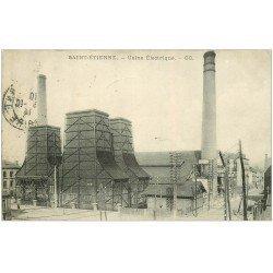 carte postale ancienne 42 SAINT-ETIENNE. Usine Electrique 1914. Timbre absent