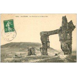 carte postale ancienne 43 ALLEGRE. Potence et Mont Bar 1911