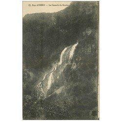 carte postale ancienne 09 Parc d'ORLU. Cascade du Gnoles