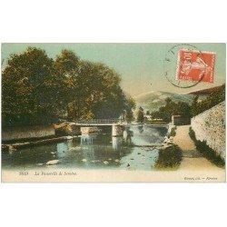 carte postale ancienne 43 AUREC. La Passerelle de Semène 1917