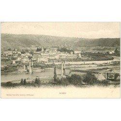carte postale ancienne 43 AUREC. Le Pont 1904