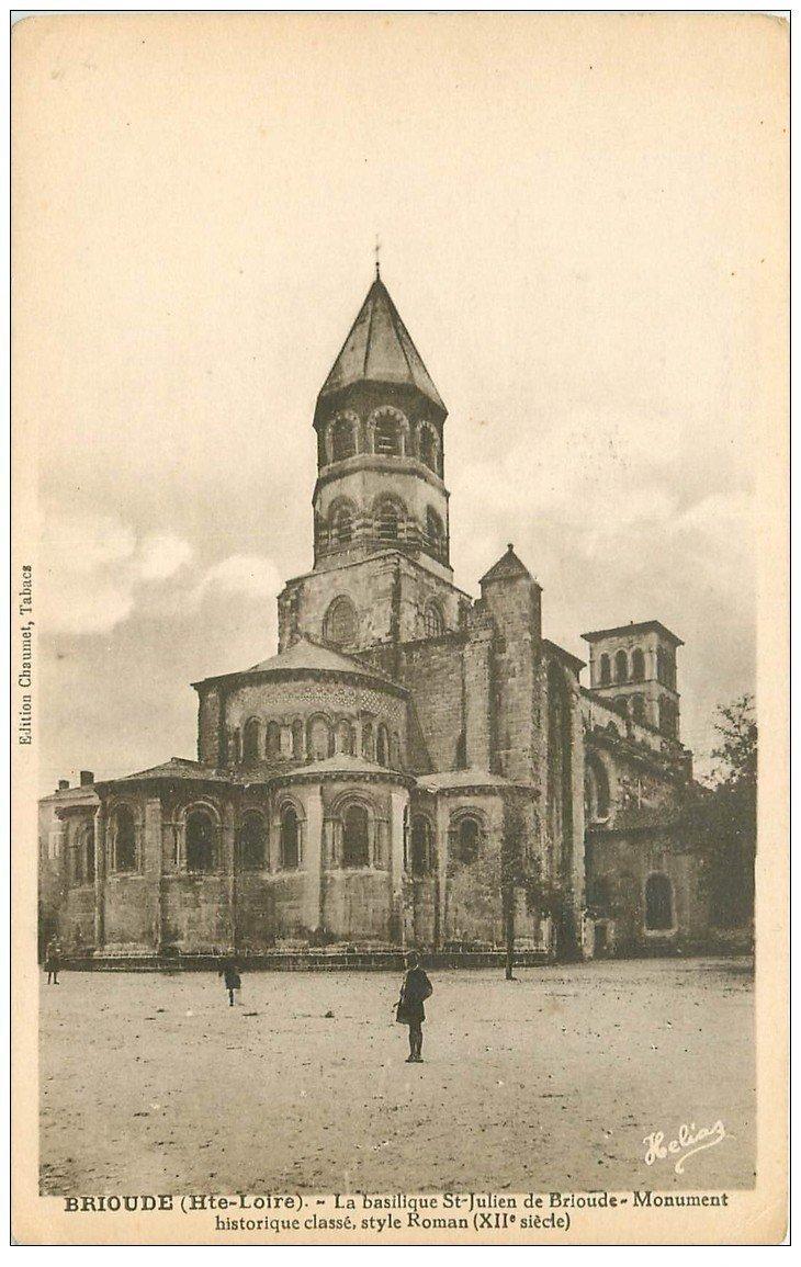 carte postale ancienne 43 BRIOUDE. Basilique Saint-Julien