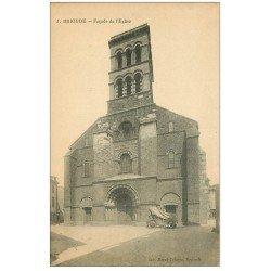 carte postale ancienne 43 BRIOUDE. Façade Eglise