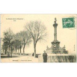 carte postale ancienne 43 BRIOUDE. Place de la Liberté 1909