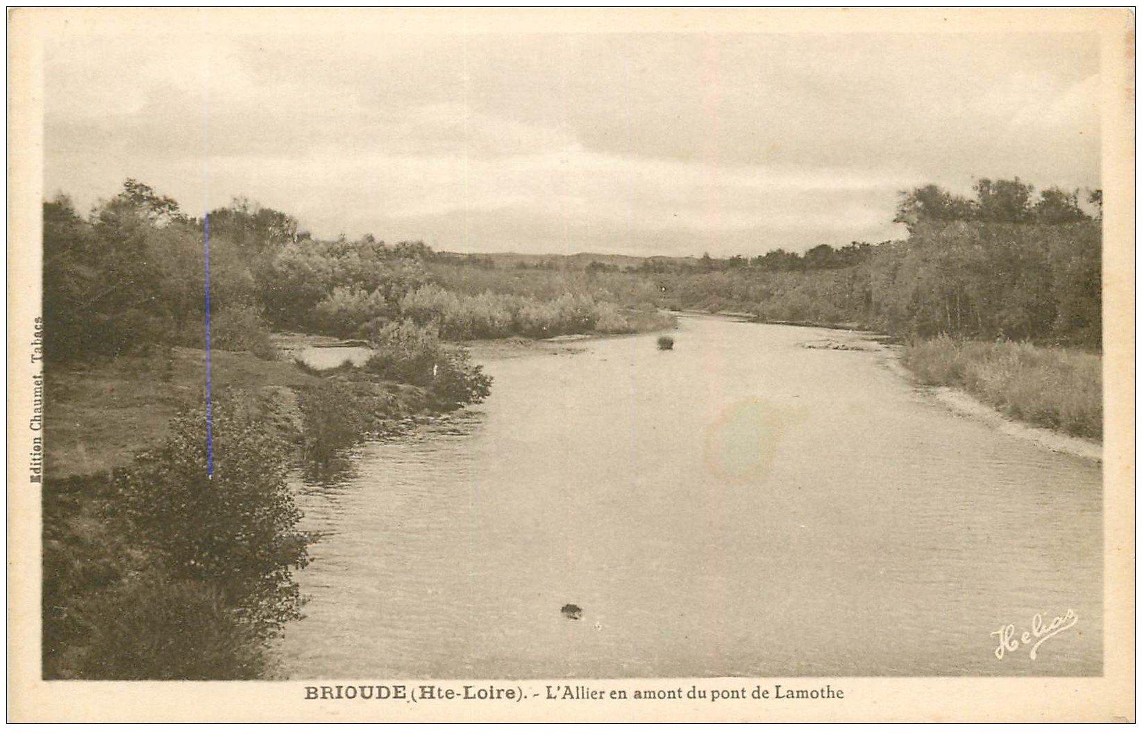 carte postale ancienne 43 BRIOUDE. Pont de Lamothe l'Allier