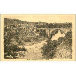 carte postale ancienne 43 BRIOUDE. Pont sur l'Allier