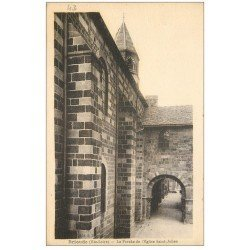 carte postale ancienne 43 BRIOUDE. Porche Eglise