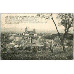 carte postale ancienne 43 BRIOUDE. Vue 1926 avec Jardinier
