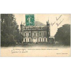 carte postale ancienne 43 CHATEAU DE BORNES 1910
