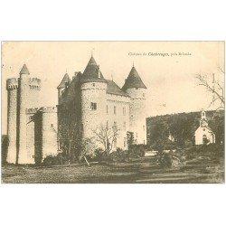 carte postale ancienne 43 CHATEAU DE CHABREUGES 1906