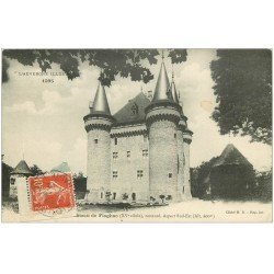 carte postale ancienne 43 CHATEAU DE FLAGHAC 1912