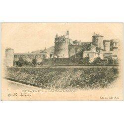 carte postale ancienne 43 CHATEAU DE SAINT-VIDAL 1902