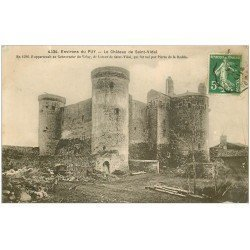 carte postale ancienne 43 CHATEAU DE SAINT-VIDAL 1913