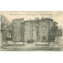 carte postale ancienne 43 CHATEAU DU THIOLANT 1911
