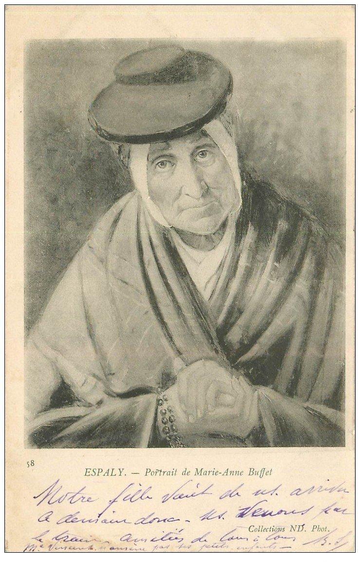 carte postale ancienne 43 ESPALY. Marie-Anne Buffet 1903