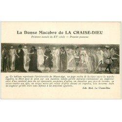 carte postale ancienne 43 LA CHAISE-DIEU. Peinture Danse Macabre