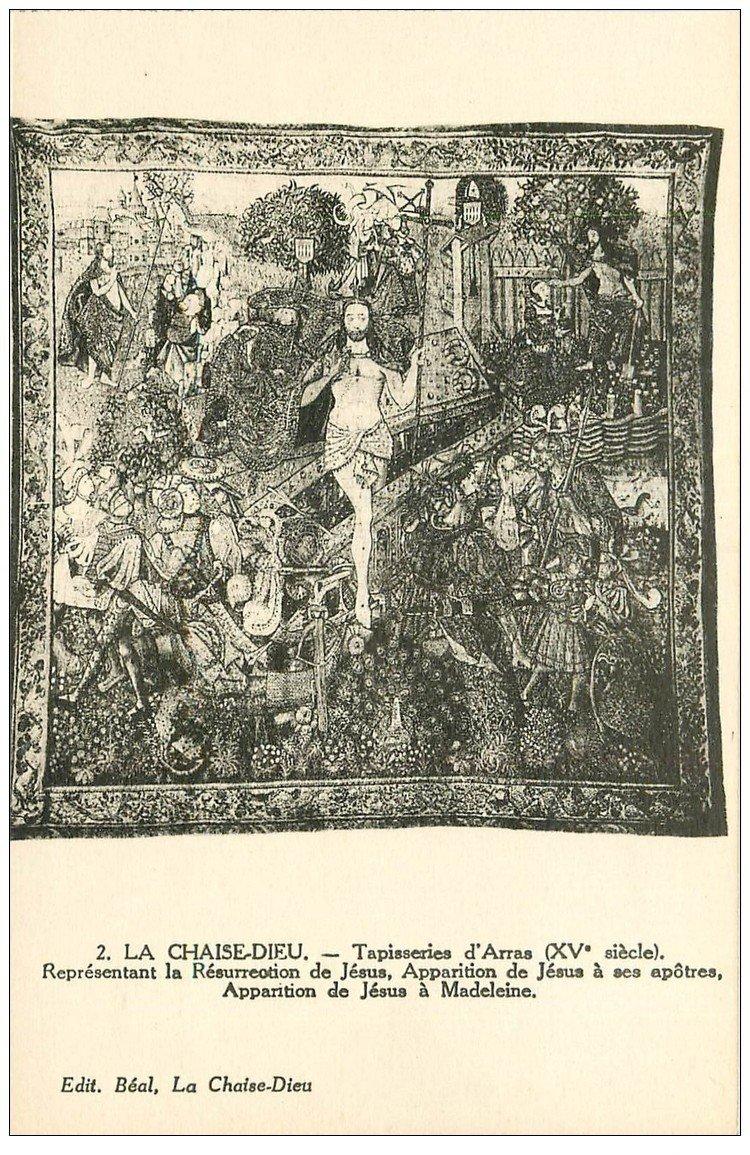 carte postale ancienne 43 LA CHAISE-DIEU. Tapisseries d'Arras