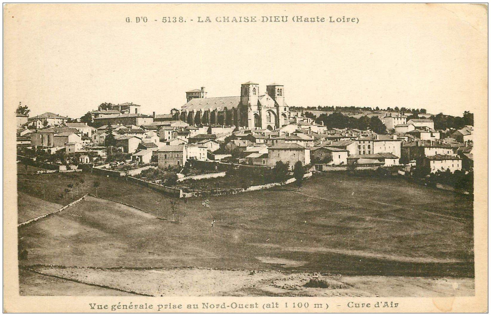 carte postale ancienne 43 LA CHAISE-DIEU. Vue