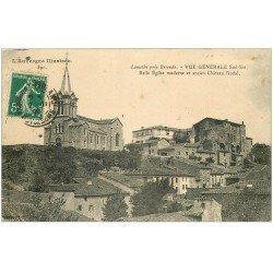 carte postale ancienne 43 LAMOTHE. Eglise et Château 1908
