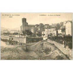 carte postale ancienne 43 LANGEAC. Quai et Eglise