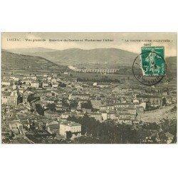 carte postale ancienne 43 LANGEAC. Quartier du Centre et Viaduc 1910