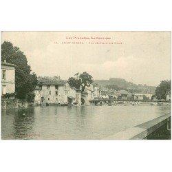 carte postale ancienne 09 SAINT-GIRONS. Vue des Quais 1916