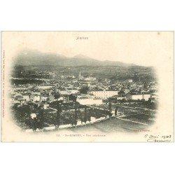 carte postale ancienne 09 SAINT-GIRONS. Vue générale 1903