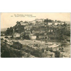 carte postale ancienne 09 SAINT-LIZIER. Vue générale du Village 1936
