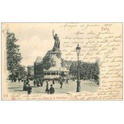 carte postale ancienne 75 PARIS 10. Place de la République 1902