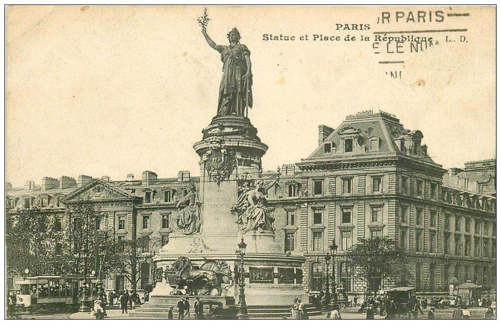 PARIS 10. Place de la République et Statue