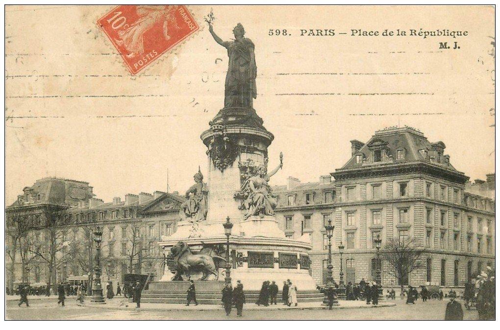 PARIS 10. Place de la République vers 1910