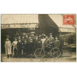 75 PARIS 11. Superbe et Rare Carte Photo 1911 Café aux Templiers 14 Rue du Faubourg du Temple près République
